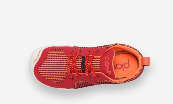 Plae MILES Mesh Lace Up Trainer (Voltage Red)